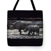 Eastern Black Rhinos Mama N Baby Tote Bag