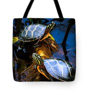 Eastern Painted Turtles Tote Bag