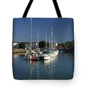 Eastern Side Moorings - Ryde Harbour Tote Bag