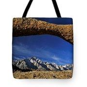 Eastern Sierra Nevada Mountains Lathe Arch Tote Bag