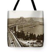 Eastern Span Of San Francisco-  Oakland Bay Bridge Circa 1937 Tote Bag