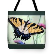 Eastern Tiger Swallowtail Butterfly By George Wood Tote Bag