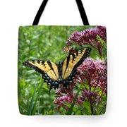 Eastern Tiger Swallowtail On Joe Pye Weed Tote Bag