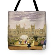 Eastern View Of The Castle And Garden Tote Bag