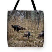Eastern Wild Turkeys Tote Bag