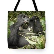 Eating Mountain Gorilla Tote Bag