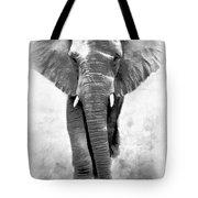Ebony Ivory African Elephant Tote Bag