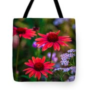 Echinacea And Yarrow Tote Bag by Omaste Witkowski