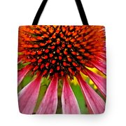 Echinacea Flower Upclose Filtered Tote Bag