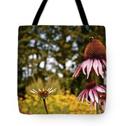 Echinacea With Bee Tote Bag