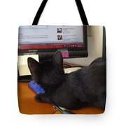 Eclipse Reading Facebook Tote Bag