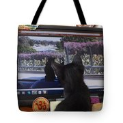Eclipse Watching Herself On Computer Monitor Tote Bag