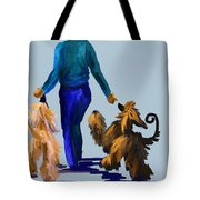 Eddie Dancing With Dogs Tote Bag