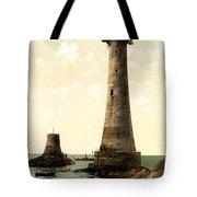 Eddystone Lighthouse Plymouth England Tote Bag