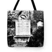 Edgar Allen Poe Grave Site Baltimore Tote Bag