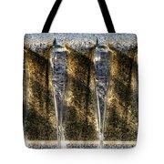 Edge Of A Fountain Tote Bag