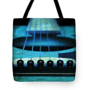 Edgy Abstract Eclectic Guitar 16 Tote Bag by Andee Design