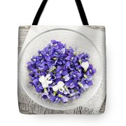 Edible Violets  Tote Bag