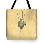 Edison Light Bulb Patent Art Tote Bag