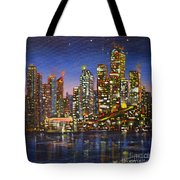 Edmonton Night Lights Tote Bag