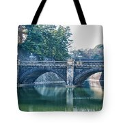 Edo Castle And Nijubashi Bridge Tote Bag