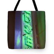 Edsel Sign Aglow Tote Bag