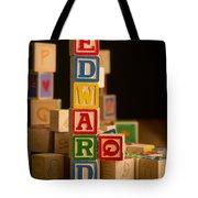 Edward - Alphabet Blocks Tote Bag