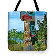 Edward Smarch Totem Pole At Teslin Tlingit Heritage Memorial Center In Teslin-yt Tote Bag