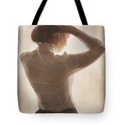Edwardian Woman Styling Her Hair Tote Bag