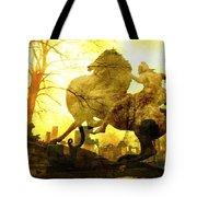 Eerie Horseman Tote Bag