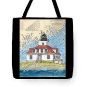 Egg Rock Lighthouse Me Nautical Chart Map Art Tote Bag