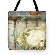 Egg Salad Ingredients Tote Bag