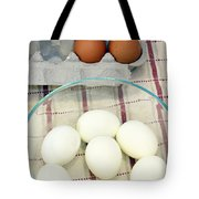 Eggs Boiled And Raw Tote Bag