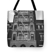 Egress Building In Black And White Tote Bag
