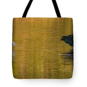 Egret And Canada Goose Tote Bag
