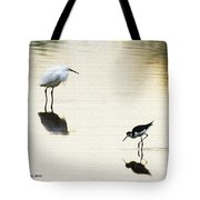 Egret And Stilt At The Grp Tote Bag