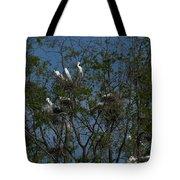 Egret Estuary   #6878 Tote Bag