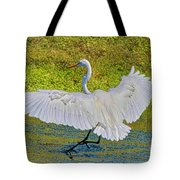 Egret Full Wing Span Tote Bag