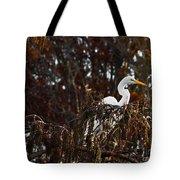Egret In Hiding Tote Bag