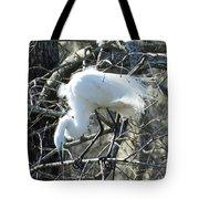 Egret In Lake Martin Swamp Louisiana Tote Bag
