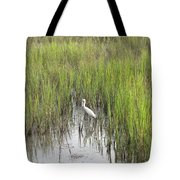 Egret In The Marsh Tote Bag