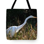 Egret On The Move Tote Bag
