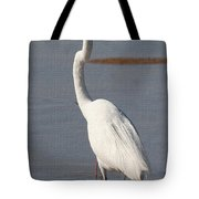 Egret Out Fishing Tote Bag