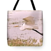 Egret Pastel Tote Bag