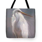 Egret Portrait Tote Bag