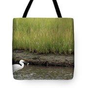 Egret's Catch Tote Bag