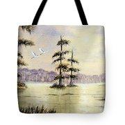 Egrets Over Wakulla Springs Tote Bag
