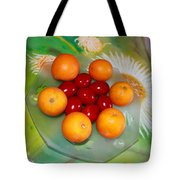Egss Fruits And Flowers Tote Bag