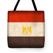 Egypt Flag Distressed Vintage Finish Tote Bag