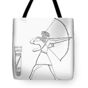 Egyptian Archer And Quiver.  From The Imperial Bible Dictionary, Published 1889 Tote Bag
